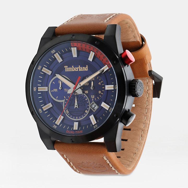 Sherbrook Armbanduhr für Herren in Blau/Gelbbraun-