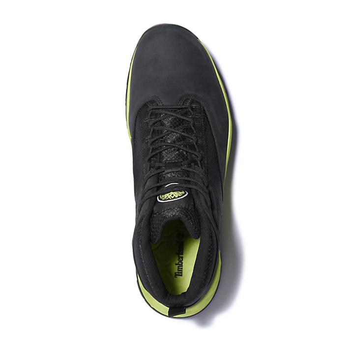 Bottine de randonnée mi-haute Solar Wave pour homme en noir/vert-