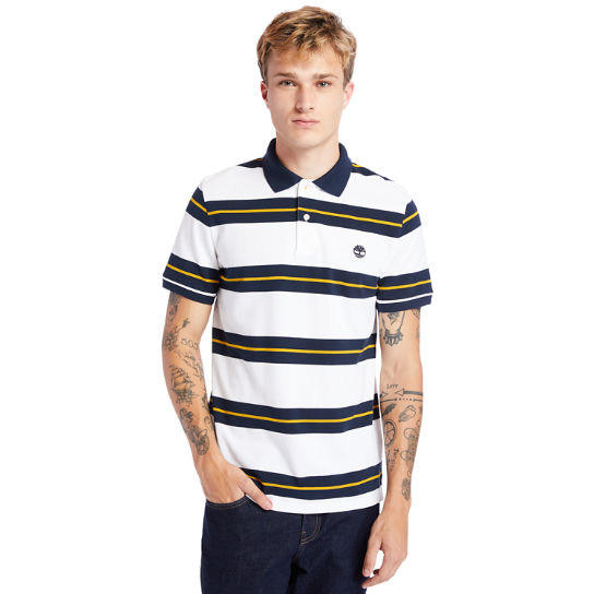 Millers River Striped Polo Shirt for Men in Navy | Timberland