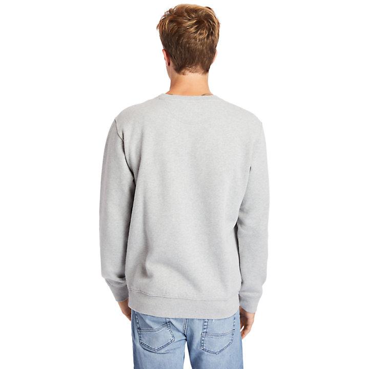 Exeter River Graphic Fleece Sweatshirt for Men in Grey-