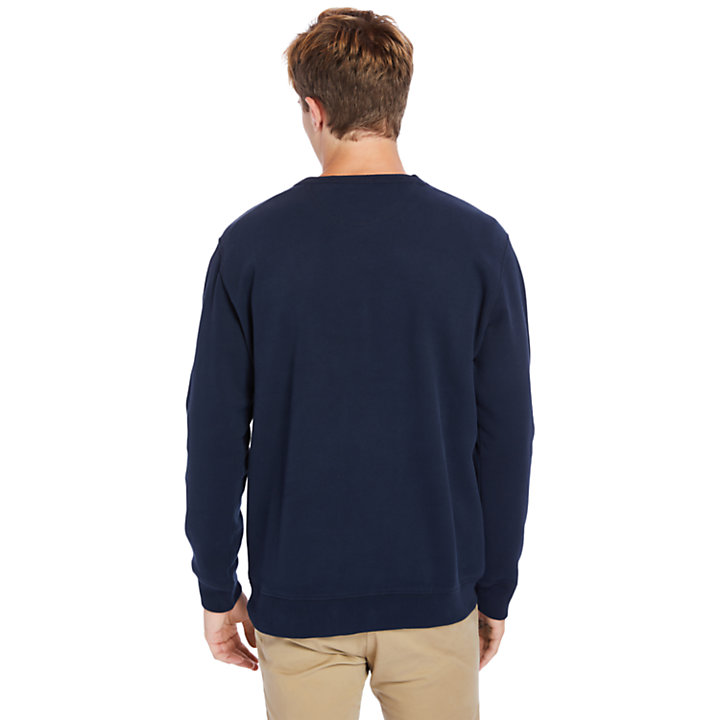 Exeter River Graphic Fleece Sweatshirt for Men in Navy-