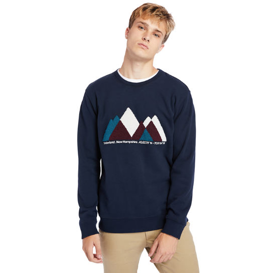 Exeter River Graphic Fleece Sweatshirt for Men in Navy | Timberland