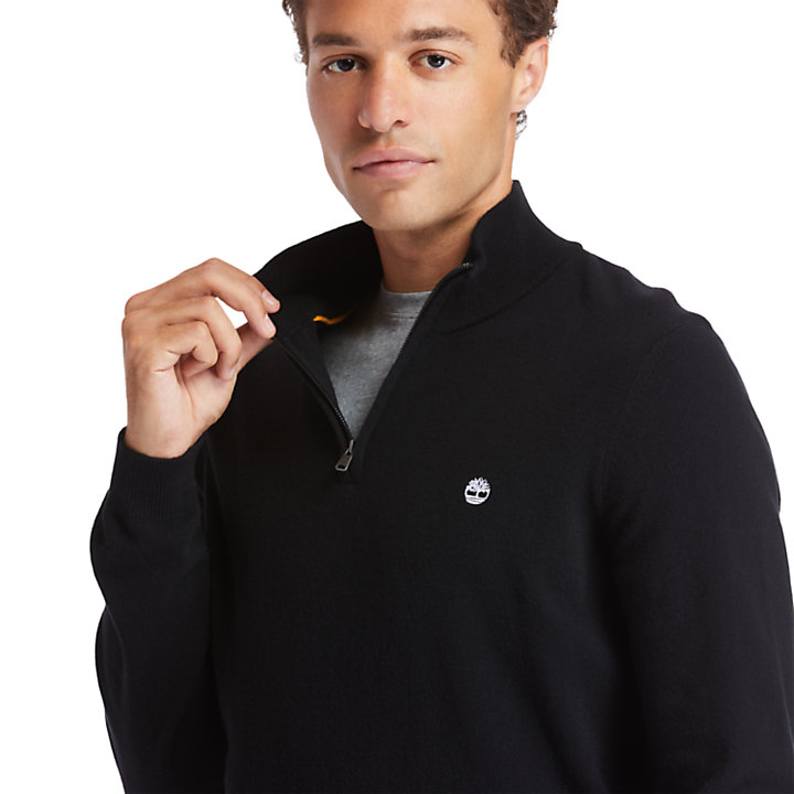 Cohas Brook Zip-neck Sweater for Men in Black-
