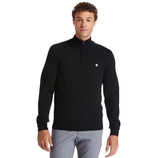 Cohas Brook Zip-neck Sweater for Men in Black | Timberland