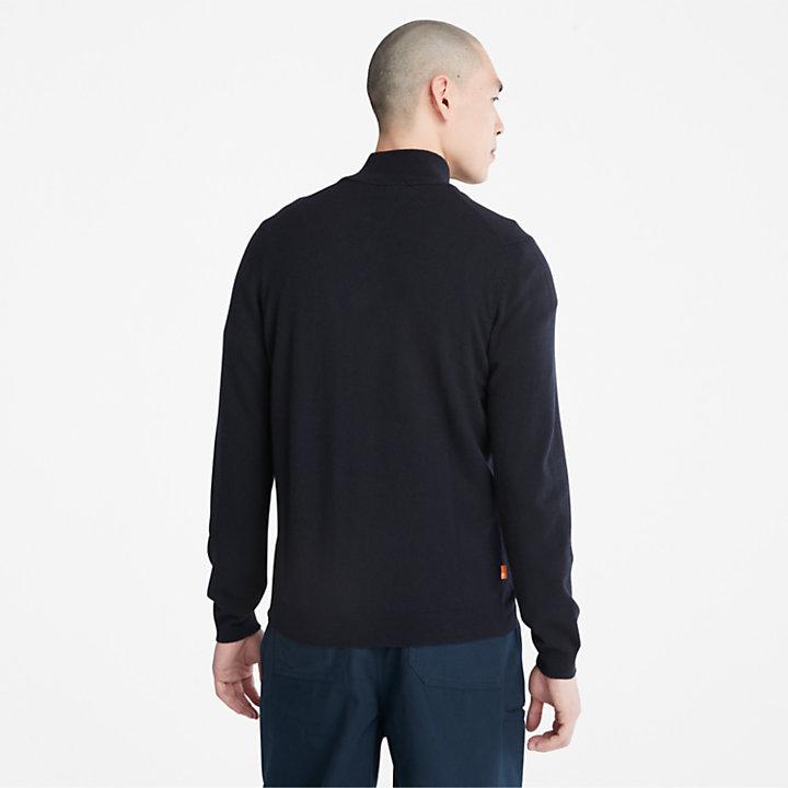 Cohas Brook Zip-neck Sweater for Men in Navy-