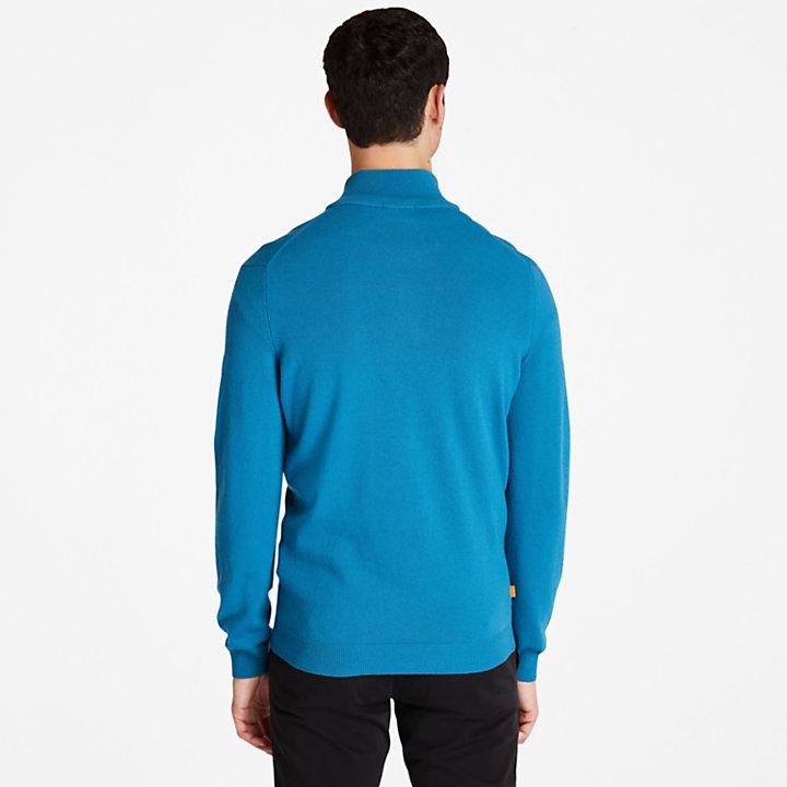 Jersey con Cuello de Cremallera Cohas Brook para Hombre en azul-