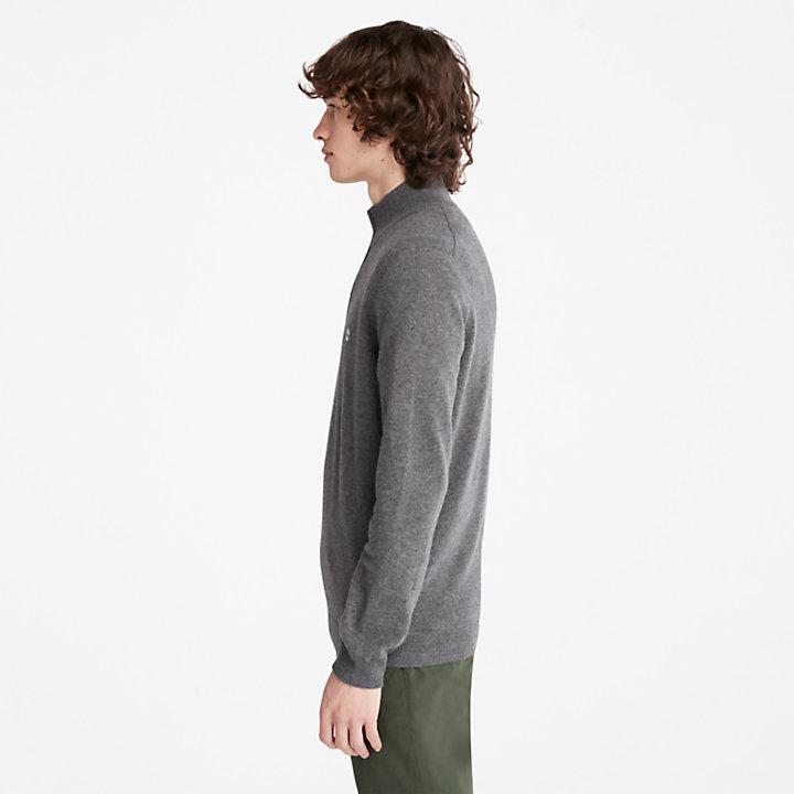 Cohas Brook Zip-neck Sweater for Men in Dark Grey-