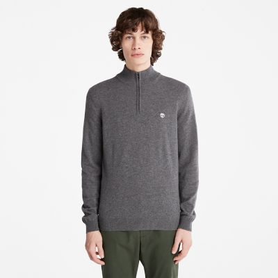 Cohas+Brook+Zip-neck+Sweater+for+Men+in+Dark+Grey