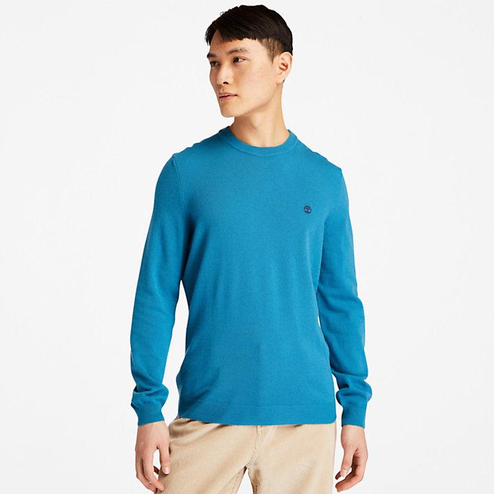 Pull à col rond Cohas Brook pour homme en bleu-