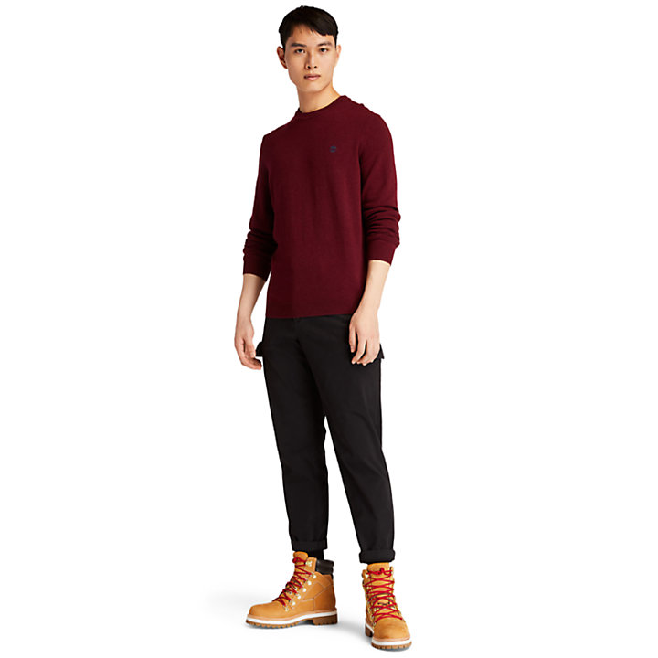Cohas Brook Crewneck Sweater for Men in Red-