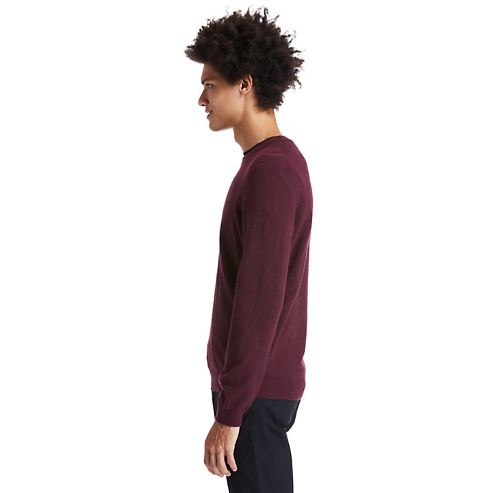 Cohas Brook Sweater for Men in Burgundy-