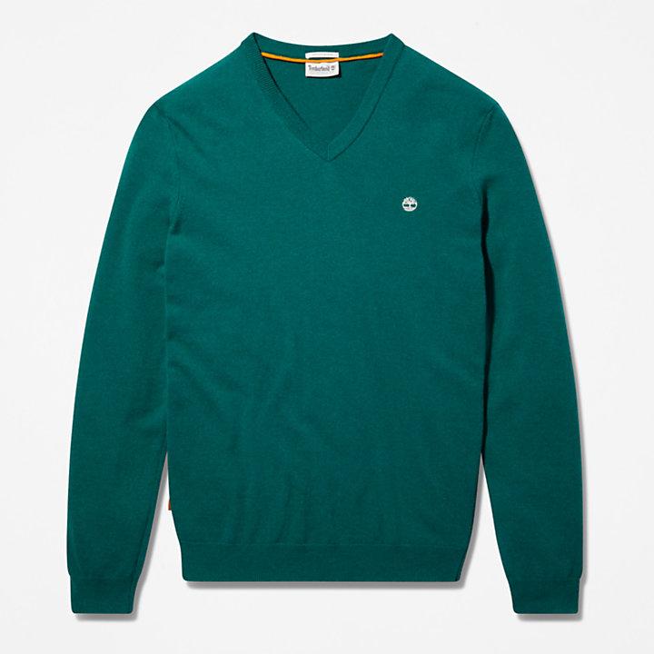 Cohas Brook V-Neck Sweater for Men in Green-