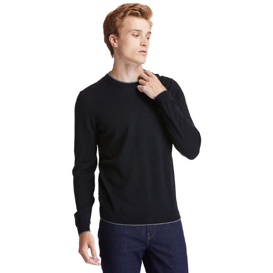 Nissitissit River Merino Wool Sweater for Men in Black | Timberland