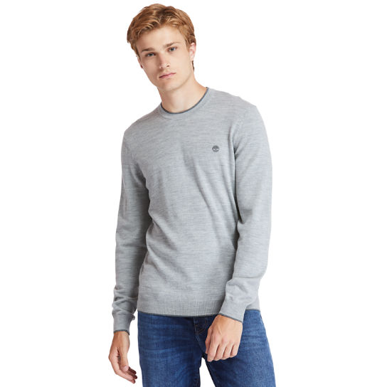 Nissitissit River Merino Wool Sweater for Men in Grey | Timberland