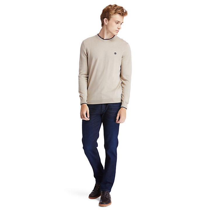 Nissitissit River Merino Wool Sweater for Men in Beige-