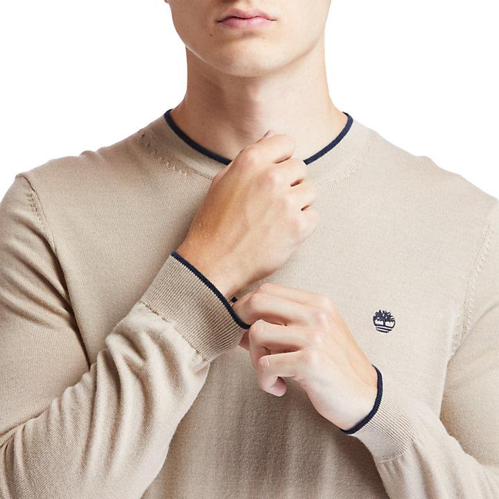 Nissitissit River Merino Wool Sweater for Men in Beige-