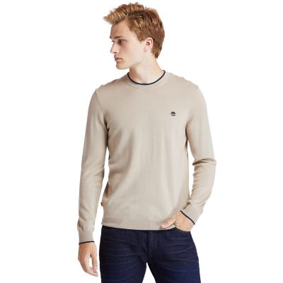 Nissitissit+River+Merino+Wool+sweater+voor+heren+in+beige