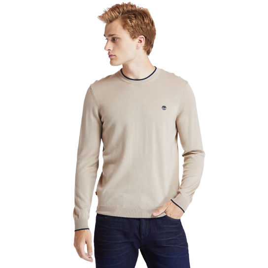 Nissitissit River Merino Wool Sweater for Men in Beige | Timberland