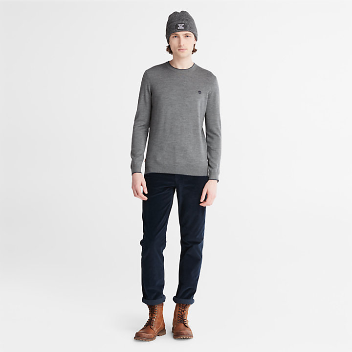 Nissitissit River Merino Wool Sweater for Men in Dark Grey-