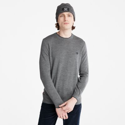 Nissitissit+River+Merino+Wool+sweater+voor+heren+in+donkergrijs