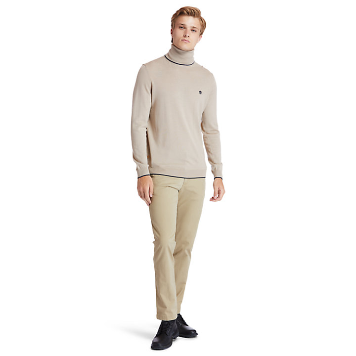 Nissitissit River Merino Sweater voor Heren in beige-
