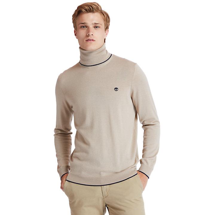 Nissitissit River Merino Sweater for Men in Beige-