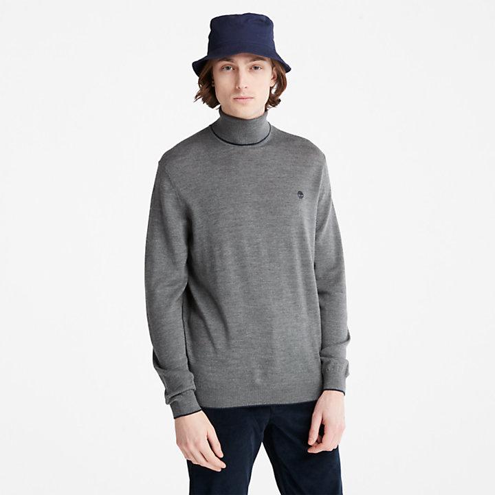 Pull Nissitissit River en laine mérinos pour homme en gris foncé-