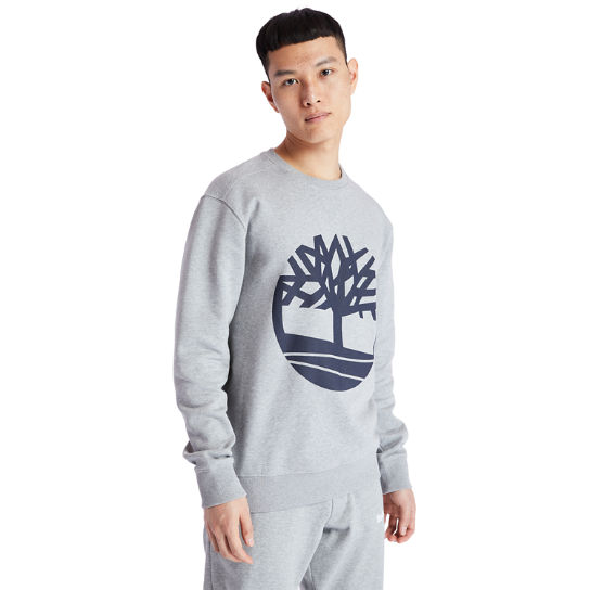 Core Tree Logo Sweatshirt for Men in Grey | Timberland