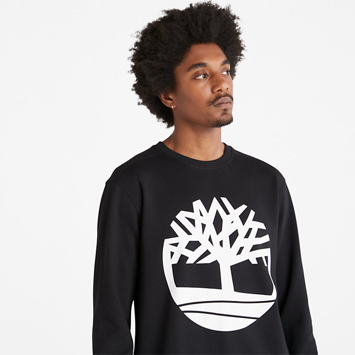 Core Tree Logo Sweatshirt for Men in Black-