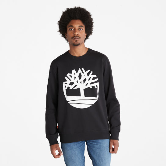 Core Tree Logo Sweatshirt for Men in Black | Timberland