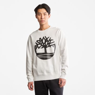 Core+Tree+Logo+Sweatshirt+for+Men+in+White