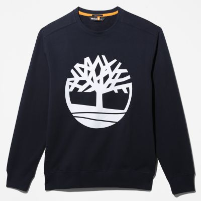 Core+Tree+Logo+Sweatshirt+for+Men+in+Navy
