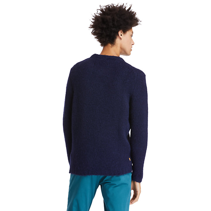 Soucook River Crew Sweater for Men in Navy-