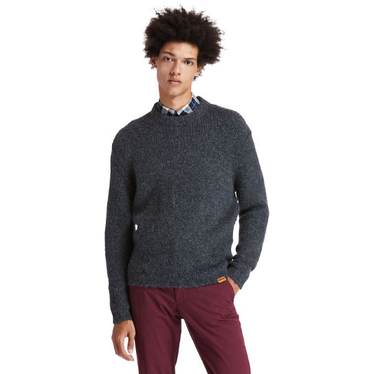 Soucook River Crew Sweater for Men in Grey | Timberland
