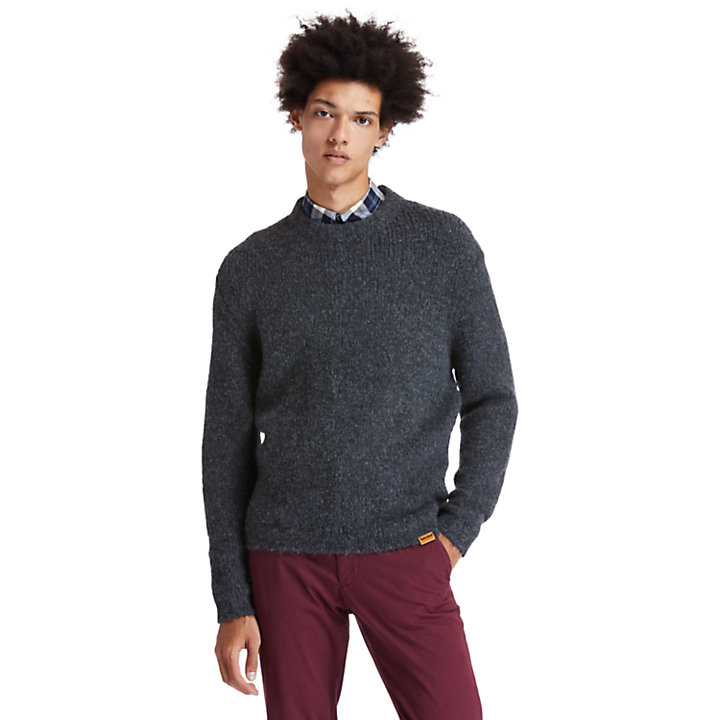 Soucook River Crew Sweater for Men in Grey-