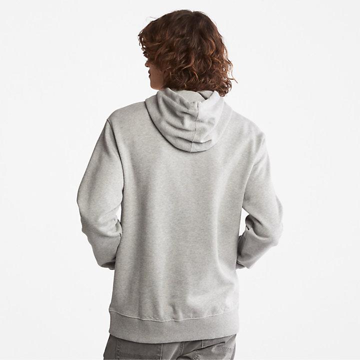Sweat à capuche avec logo arbre Core pour homme en gris-