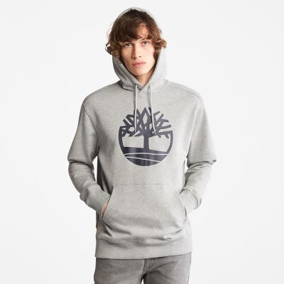 Core+Tree+Logo+Hoodie+for+Men+in+Grey