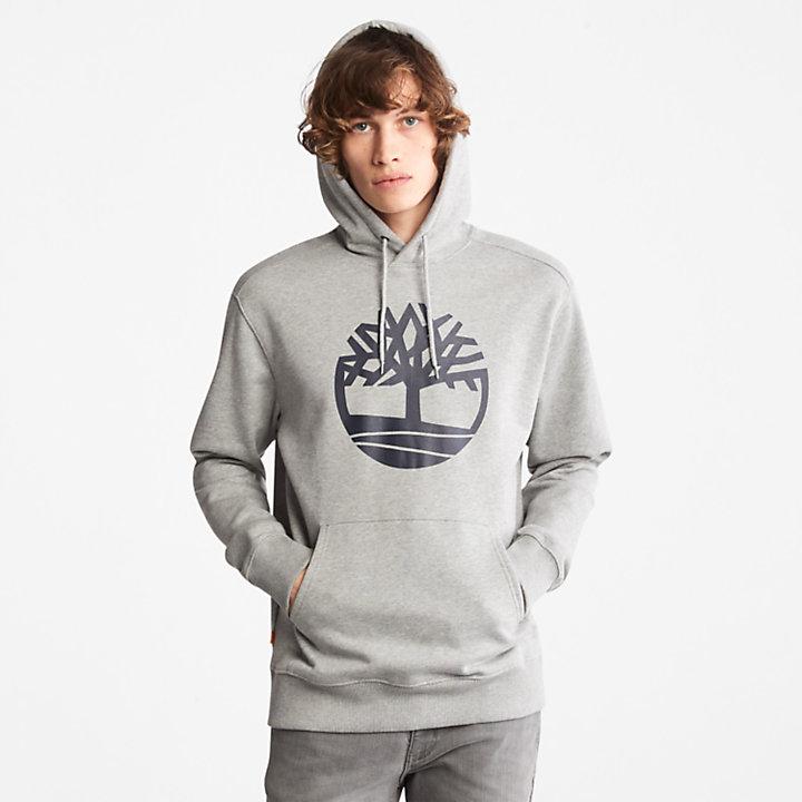 Sudadera con capucha y logotipo Core Tree para hombre en gris-