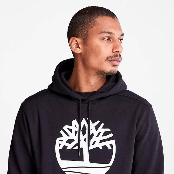 Core Tree Logo Hoodie for Men in Black-