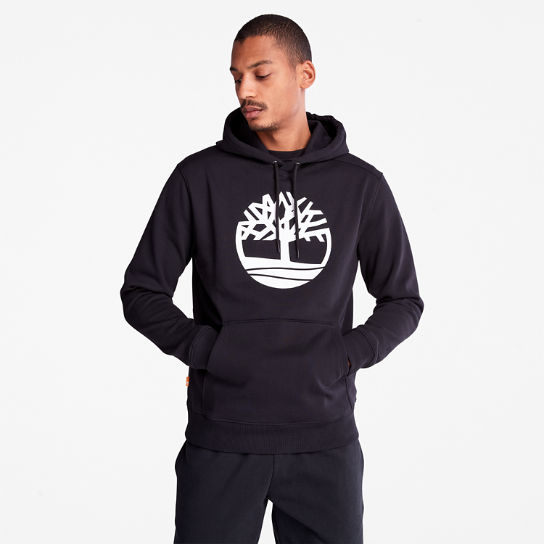 Core Tree Logo Hoodie for Men in Black | Timberland