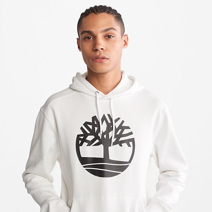 Sweat à capuche avec logo arbre Core pour homme en blanc-