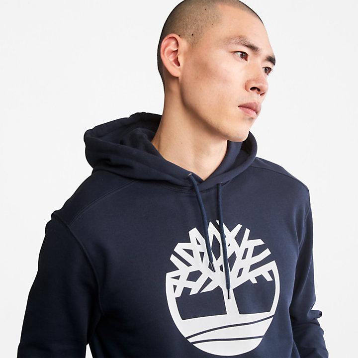 Sudadera con capucha y logotipo Core Tree para hombre en azul marino-