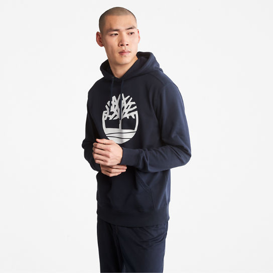 Core Tree Logo Hoodie for Men in Navy | Timberland