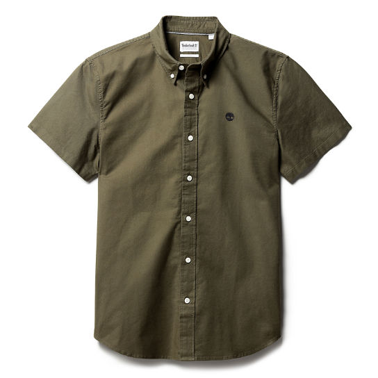 Pleasant River Oxford Shirt for Men in Dark Green | Timberland