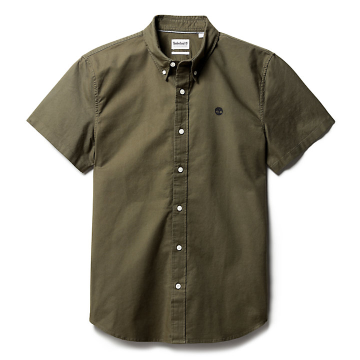 Pleasant River Oxford Shirt for Men in Dark Green-