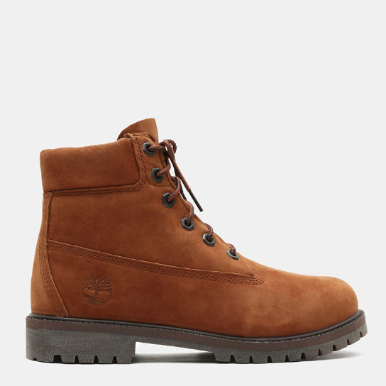 6-Inch Boot Premium junior en marron foncé | Timberland