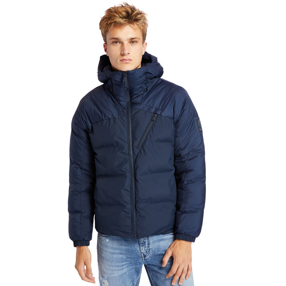 Timberland Neo Summit Hooded Jacket For Men In Navy Blue, Size S