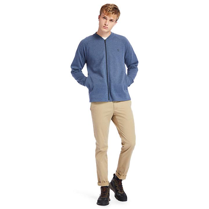 Mollidgewock Brook Sweatshirt met rits voor heren in marineblauw-