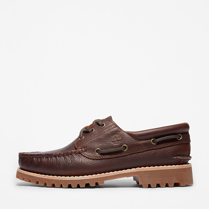 Timberland® Authentic 3-Eye Boat Shoe voor heren in donkerbruin-