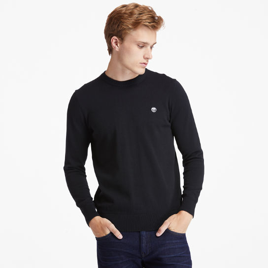 Williams River Organic Cotton Sweater for Men in Black | Timberland